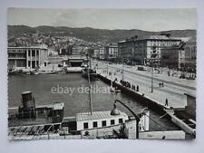 TRIESTE tram tramway vecchia cartolina nave Vettor Pisani