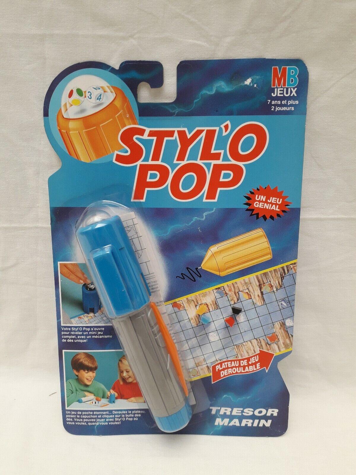 Styl'O Pop Trésor Marin MB jeux Neuf sous blister Vintage 1992 Stylo no Astujeux