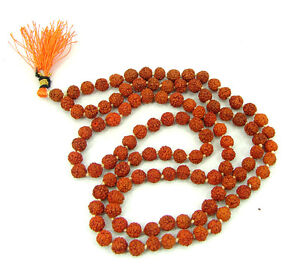 Rudraksha String 108+1 Beads,6.00 MM, Hindu Prayer Meditation - 1532713