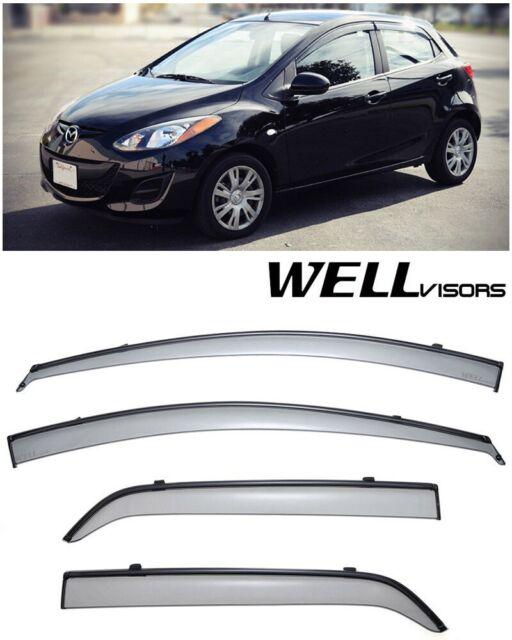 WellVisors Window Visors 11-15 Mazda 2 HB Side Deflectors