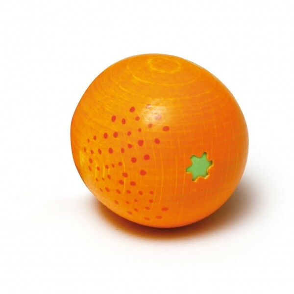 ERZI Orange Holz Kaufmannsladen Holzobst Holzorange Apfelsine !!RÄUMUNGSVERKAUF!