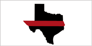 Decal Bumper Sticker Wholesale Lot 6 State of Texas Thin Red Line Fire Dept