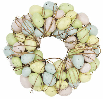 Round Pastel Easter Egg and Twig Easter Wreath by Gisela Graham * Decor * Gift