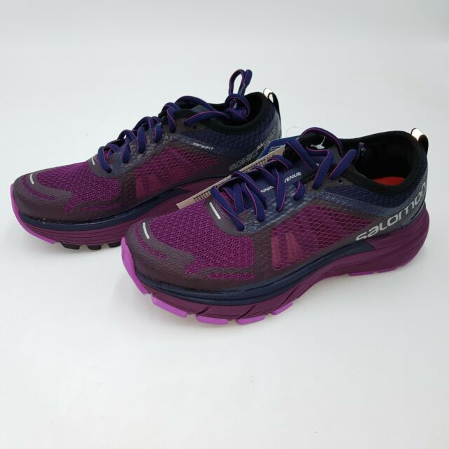 Salomon Sonic RA Max lila UK 8 42 404783 SCHUHE Laufschuhe Trekking Sneaker