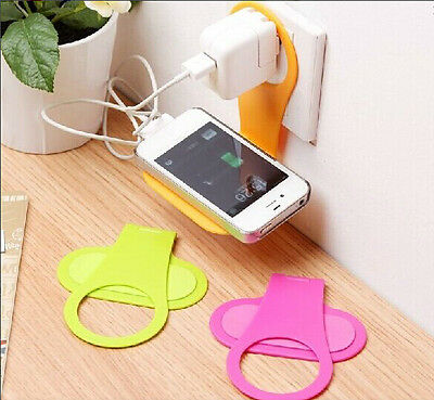 Portable Wall Charger Adapter Hanger Cell Phone Charging Holder Color Random 1pc