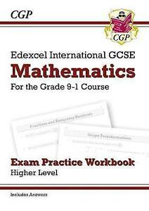 Details about CGP EDEXCEL IGCSE Maths Exam Practice Workbook Higher Grade  9-1