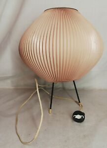 Lampe-Tripode-Rhodoid-Jean-Rispal-Vintage-Decoration-H-28-Cm