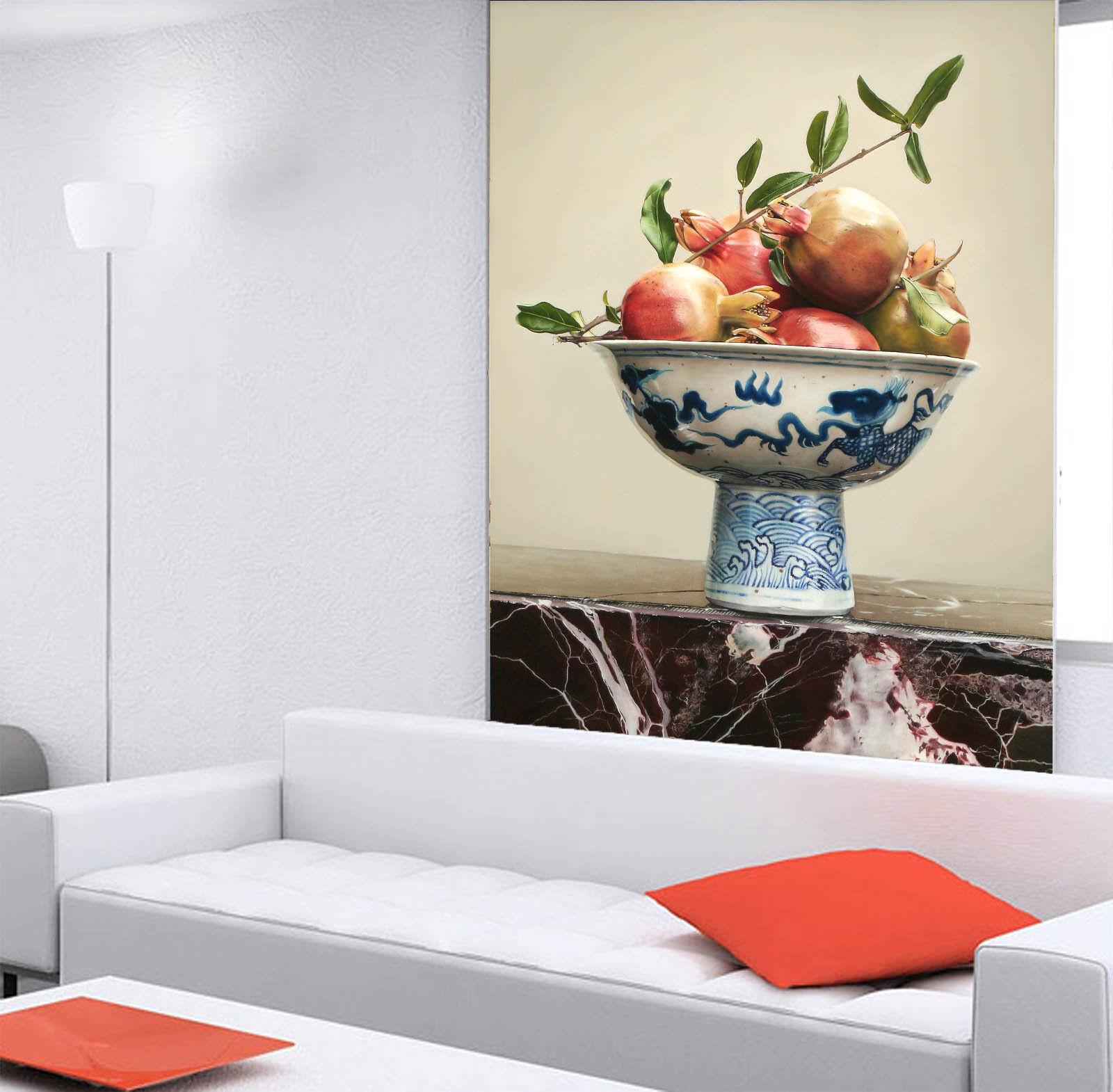 3D Granatapfel Retro Schale 7 Tapete Wandgemälde Tapete Tapeten Bild Familie DE
