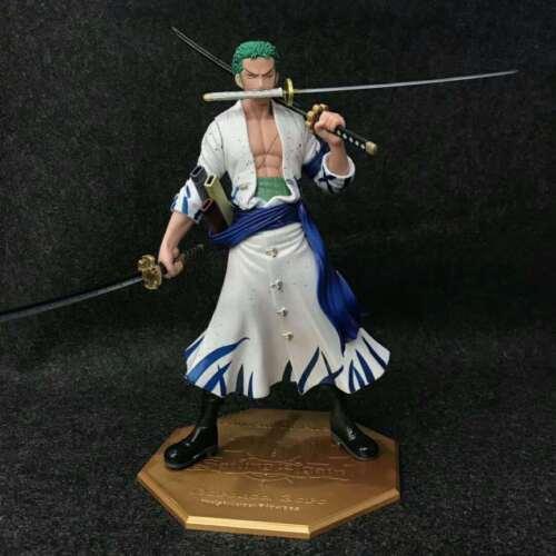 One Piece Standing Swordman Roronoa Zoro Anime Figure Collection Toy New In Box