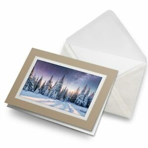 Greetings-Card-Biege-Beautiful-Winter-Trees-Snowy-Forest-16743
