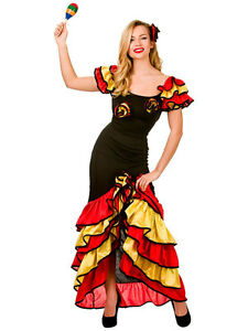 d132cd35b Spanish Senorita Rumba Salsa Flamenco Dancer Dance Ladies Fancy ...