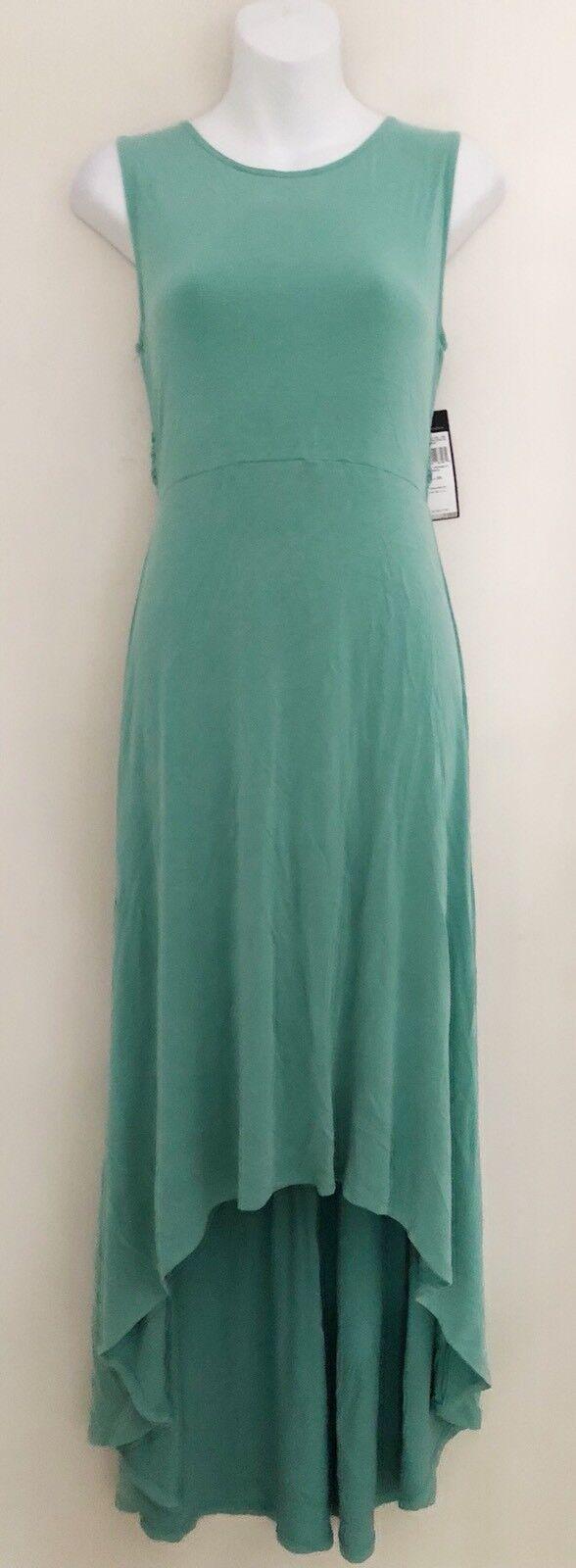 US NWT BCBG MAXAZRIA damen Fara Dress Sz XS Sleeveless Grün Hi Low Stretch