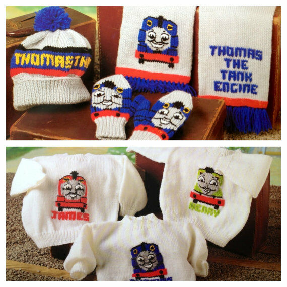 thomas the tank engine set dk knitting pattern 99p