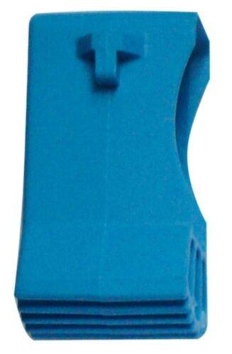 Aussenschuh für Quertraverse 50x22mm blau Z200
