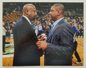 Doc Rivers & Mike Woodson Signed 8x10 Photo NBA Boston Celtics Hawks Coaches RAD