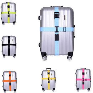 Adjustable Suitcase Bag Travel Luggage Straps Buckle Baggage Tie Down Belt Lock