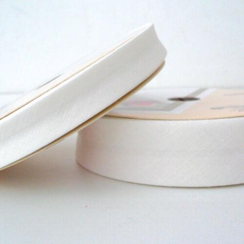 30 mm-crème-Coton fabiric Plié Bordure Lin Bias Binding