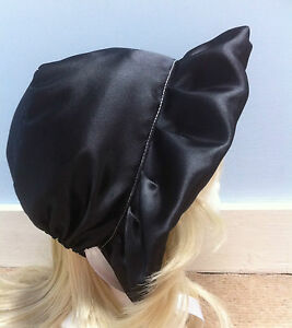 black-adult-baby-adult-child-victorian-edwardian-satin-bonnet-sissy-fancy-dress
