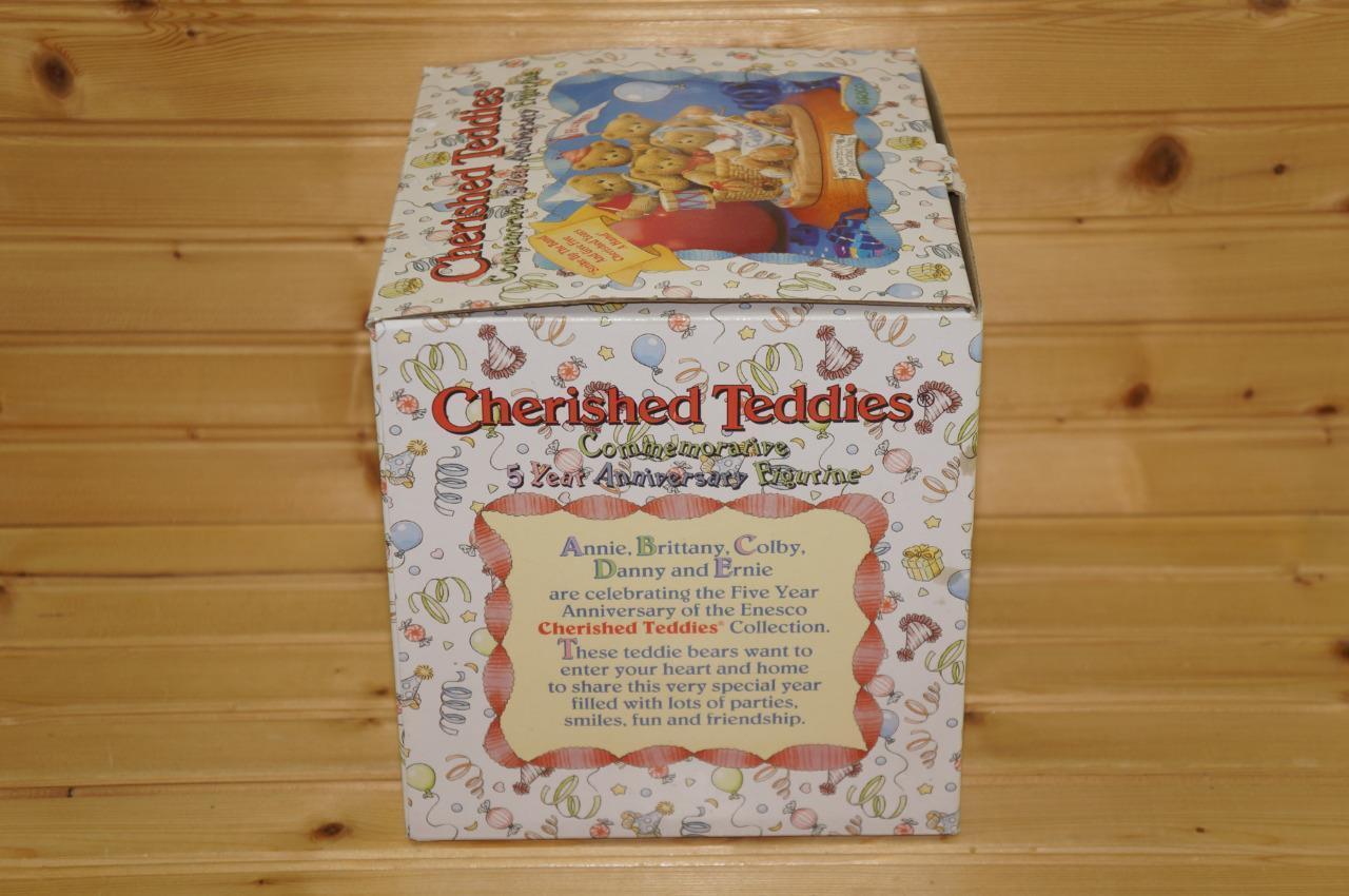 Cherished Teddies Commemorative Commemorative Commemorative 5 Year Anniversary Figurine 142934