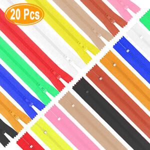 20pcs 14 In (environ 35.56 Cm) Fermetures éclair à Coudre Nylon Bobine Coloré Fermetures éclair à Coudre Artisanat 10 Couleur-afficher Le Titre D'origine La Qualité D'Abord
