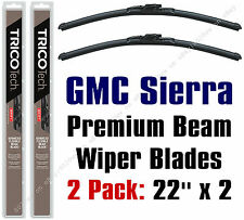 Wipers 2-Pack Premium Beam Blade Wiper Blades fit GMC Sierra 1999-2015 - 19220x2