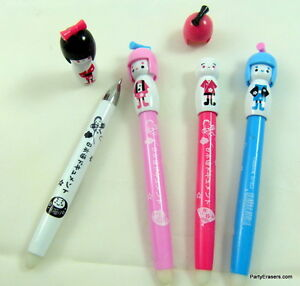 1x Cute Colourful Japanese Girl Erasable Blue Ball Point Pen 0.8mm yKNrJ0I7-09110907-522987293