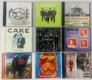 (9) CD LOT Rock Alternative Punk - Cake, Beck, Weezer, Blink 182, Poe, Cypress