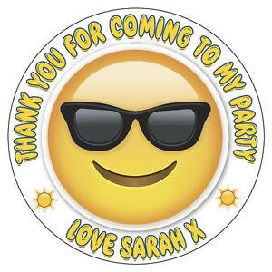 Personalizzato Emoticons Sorridenti Occhiali Adesivi Ringraziamenti