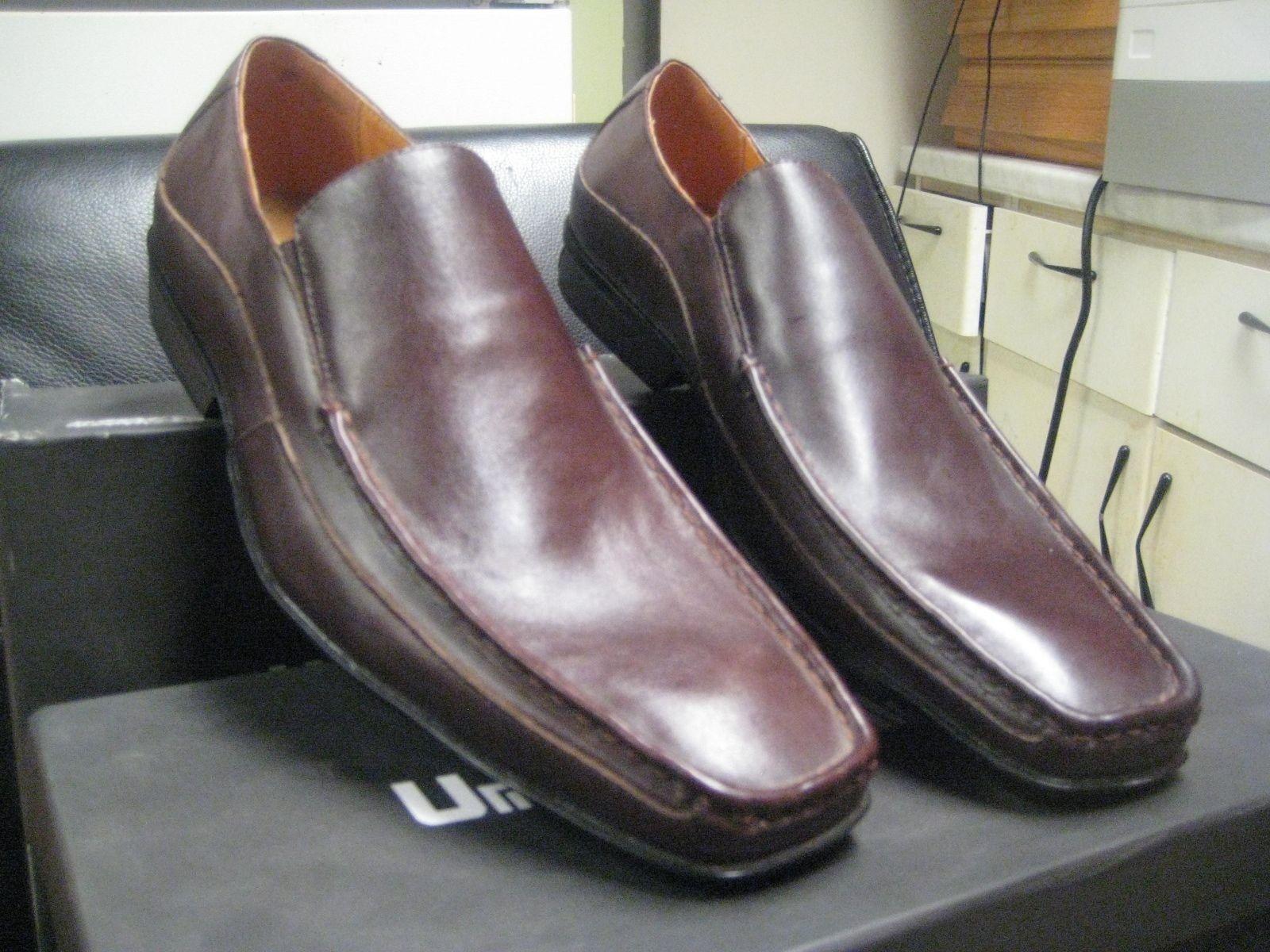 Umberto Pellegrini Men's Leather Slip on shoes 7115 Brown