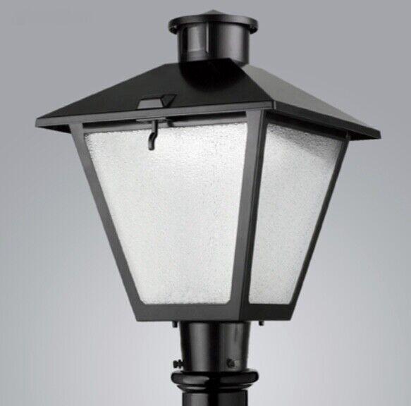 Post linterna luz Grandes Colonial Americano-Craftsman De Aluminio Negro - 100w