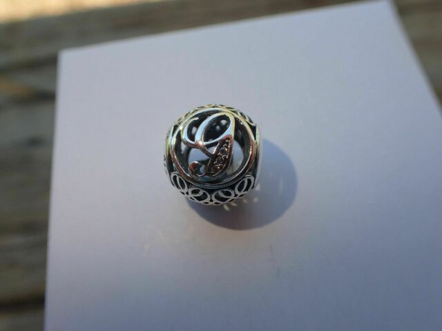 Genuine Authentic Pandora Charm Letter G  791851cz P