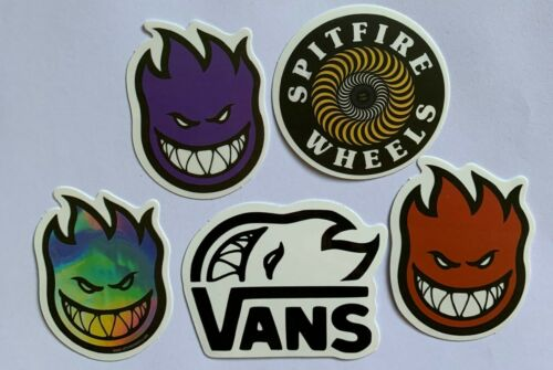 Luggage 5 x Unique Spitfire Wheels Stickers for Boards Helmet