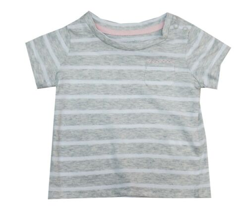 4T Toughskins Grey Striped Top Shirt Toddler Little Girls 3T