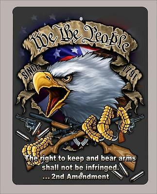 """We the People, right to bear arms,2nd Amendment""metal sign-Large 12""x18"""