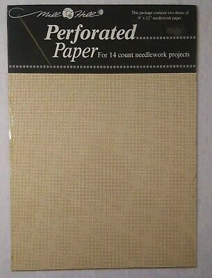 Ecru Mill Hill Perforated Paper 14 Count  2 sheets 9 X 12