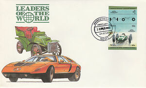 Nevis 4959 - 1985 Voitures-cooper Climax 60 C Imperf Paire On First Day Cover-afficher Le Titre D'origine
