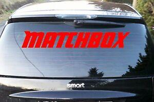 Matchbox-Auto-Aufkleber-Heckscheibe-90x15-Sticker-Schrift-mercedes-smart-Audi-VW