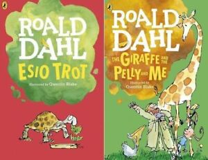 Esio-Trot-amp-The-Giraffe-and-the-Pelly-and-Me-by-Roald-Dahl-2-Books