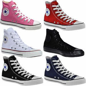 Converse-Chuck-Taylor-Trainer-All-Star-Hi-Unisex-Mens-Womens-Canvas-Sneakers