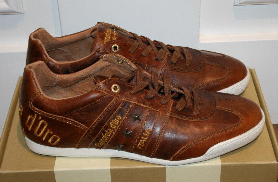 Pantofola d´Gold Turnschuhe braun Leder Gr.43