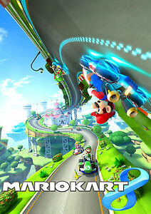 mario kart 8 poster super mario nintendo wii switch neu. Black Bedroom Furniture Sets. Home Design Ideas
