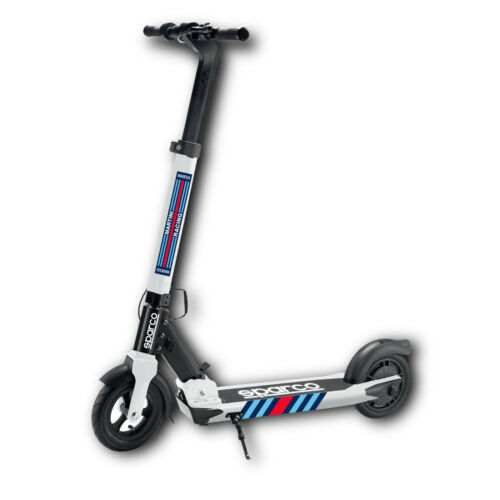 Sparco-SEM1-Electric-Scooter-25km-350W-25-km-h-WHITE-Martini-Racing-Ltd-Edition