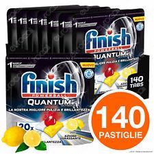 140 Pastiglie Finish Powerball Quantum Ultimate Limone Detersivo Lavastoviglie