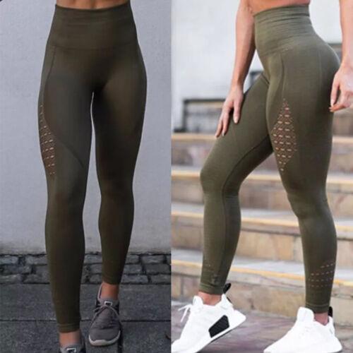 Womens Gym Yoga Fitness Leggings Running Sports Pants Jogging Trousers Butt Lift