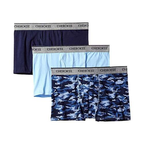 Choose Size- S, M, L Cherokee Men/'s Cotton Stretch Trunk 3-Pack Blue Camo
