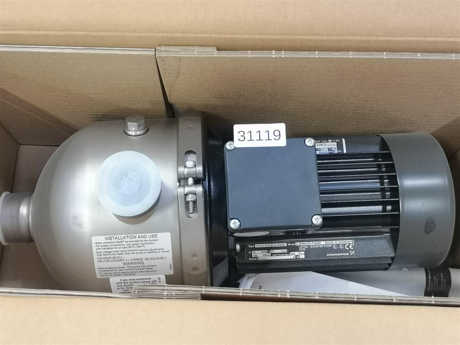 Grundfos CHI 12-10 A-B-G-BQQE Pump Rotary Pump 60HZ