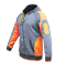 Hi-Vis-Fleece-Jacket-Full-Zip-Hoodie-Jumper-Panel-with-Piping-Body-Dark-Marble thumbnail 20