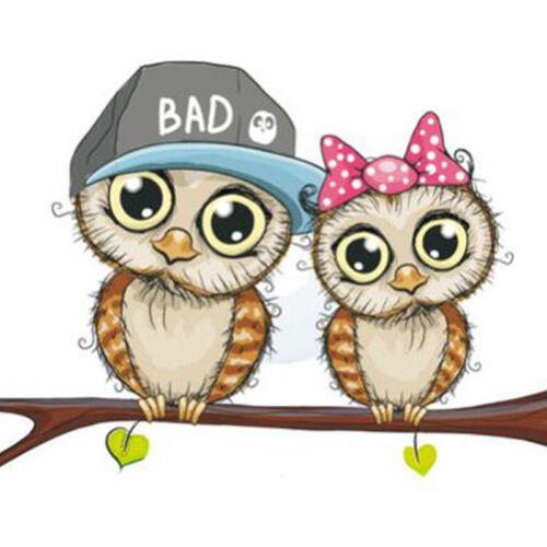 Cartoon 3D Owl Light Switch Wall Sticker Kids Boys Girls Bedroom Ornament LG