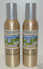 2 NEW YANKEE CANDLE CLEAN COTTON CONCENTRATED ROOM SPRAY PERFUME AIR FRESHENER