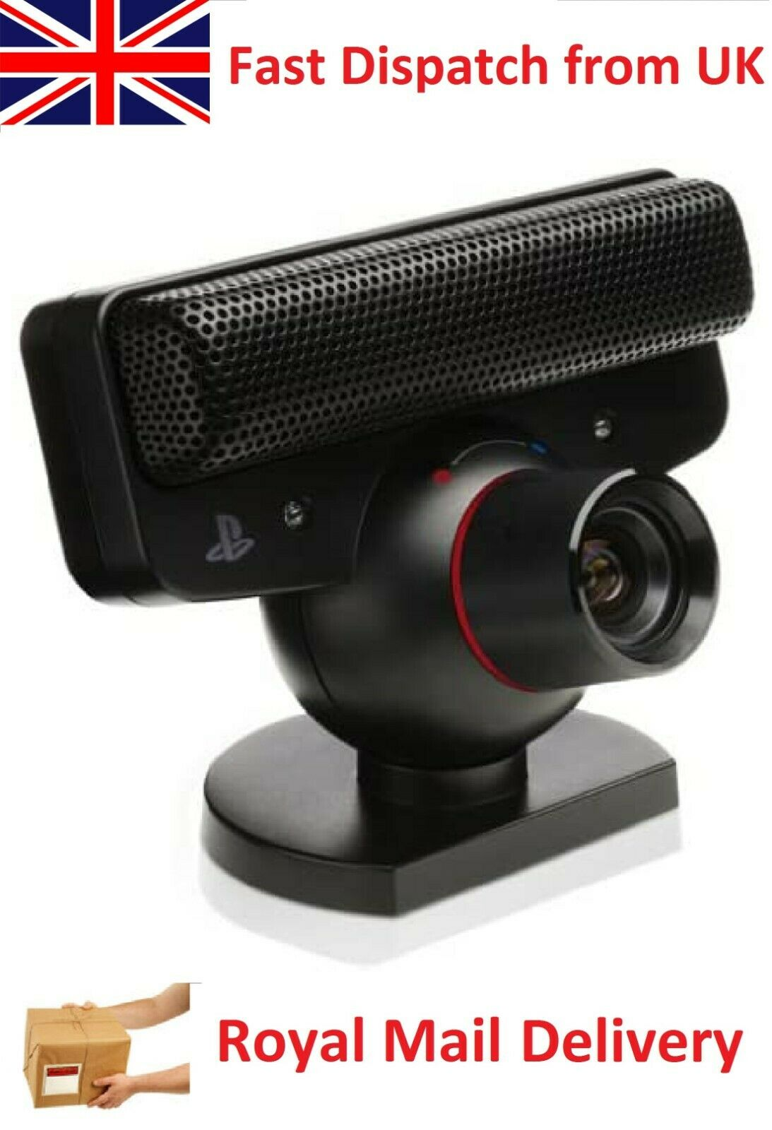 Official Sony Playstation 3 Camera PS3 USB Move Cam Eye Toy with Mic for Games
